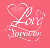 Beautiful background for Love forever card Royalty Free Stock Photography