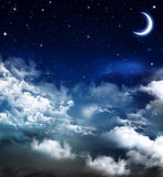 Beautiful background, nightly sky Stock Photography