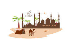 A beautiful  background On the occasion of the Muslim holy month of Ramadan Stock Photography