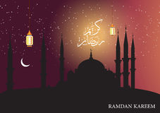 Beautiful background on the occasion of the Muslim holy month of Ramadan Royalty Free Stock Image