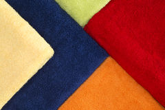 Beautiful background pattern of colorful towels Stock Photo