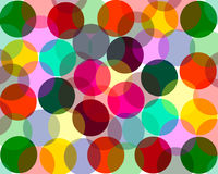A beautiful background pattern with green, red, orange, yellow, Blue circles Stock Photos
