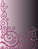 Beautiful background with pink curls Royalty Free Stock Images