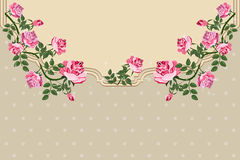 Beautiful background with rose flower. Elegance Vintage card. Royalty Free Stock Photo