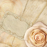 Beautiful background rose and letters Royalty Free Stock Photography