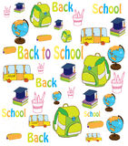 Beautiful background with school supplies Royalty Free Stock Photos