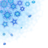 Beautiful background with snowflakes stock illustration