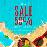 Beautiful background for summer sale Stock Image
