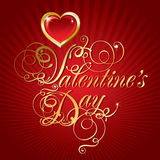Beautiful background on Valentine's Day Stock Photo