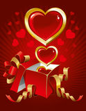 Beautiful  background on Valentine's Day Stock Image