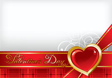 Beautiful background on Valentine's Day Stock Images