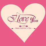 Beautiful background for valentines day card  Stock Images
