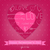 Beautiful background for Valentines Day with heart Stock Photo