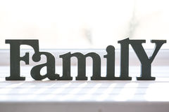 Beautiful background with the words Family Stock Photos