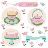 Beautiful backgrounds with a set of tea Stock Photos