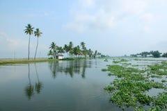 Beautiful backwater destinations of Kerala Royalty Free Stock Image