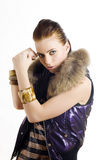 Beautiful bad city girl preparing for fight Royalty Free Stock Photography
