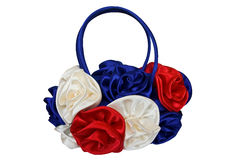 Beautiful bag for ladies with colored roses Royalty Free Stock Images