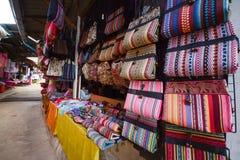 Beautiful bag made from silk Stock Photo