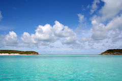 Beautiful Bahamas. Beautiful private and secluded islands in the Bahamas Stock Image