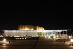 The beautiful Bahrain National Theatre, side view Royalty Free Stock Images