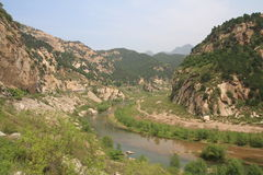 Beautiful Baihe canyon in Beijing of China Stock Photos