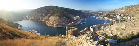 Beautiful Balaklava bay, Crimea Stock Photos