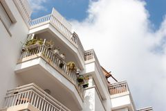 Beautiful balconies Royalty Free Stock Photo