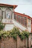 Beautiful balconies of Tbilisi stock photography