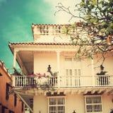 Beautiful balcony. On blue sky Stock Photo