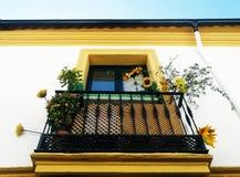 Beautiful Balcony in Cordoba royalty free stock photos
