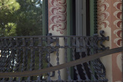 Beautiful balcony. Design metal art Royalty Free Stock Photography
