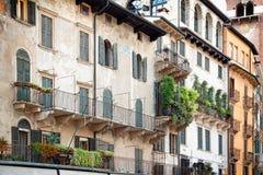 The rustic facade of an apartment building Royalty Free Stock Photos