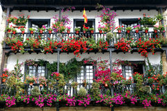 Beautiful balcony with flowers Stock Photo