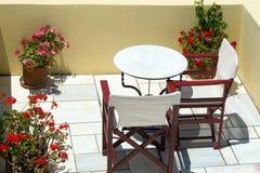 Beautiful balcony of Oia village on Santorini island Royalty Free Stock Photo
