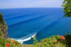 Beautiful Bali. This shot was taken on from the cliffs on a breathtaking day in Uluwatu Bali Stock Images