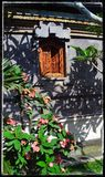 Beautiful Balinese Window Stock Photography