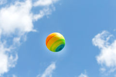 Beautiful ball in the air Stock Photos