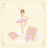 Beautiful ballerina - abstract card Stock Image