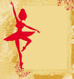 Beautiful ballerina in the background grunge Royalty Free Stock Photos