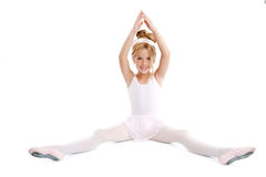 Beautiful ballerina blond little girl Royalty Free Stock Photos