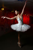 Beautiful Ballerina Dancing Ballet Dance Stock Photo