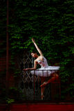 Beautiful ballerina dancing ballet dance Stock Image