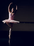 Beautiful ballerina dancing en pointe Royalty Free Stock Photos