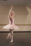 Beautiful ballerina dancing en pointe Stock Photos