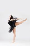Beautiful ballerina doing split stock photos