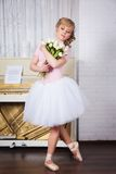 Beautiful ballerina with flowers Royalty Free Stock Images