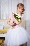 Beautiful ballerina with flowers Royalty Free Stock Photos