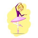 Beautiful ballerina girl dancing Royalty Free Stock Images