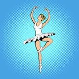 Beautiful ballerina girl dancing Stock Images